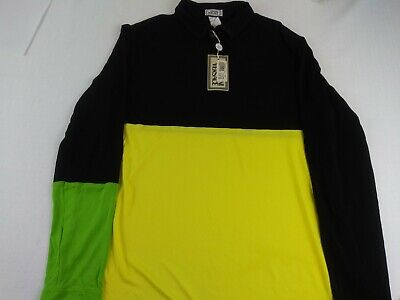 New Gianni Versace 56 XXL Vintage Viscose Rayon Shirt Mens Italy Long Sleeve