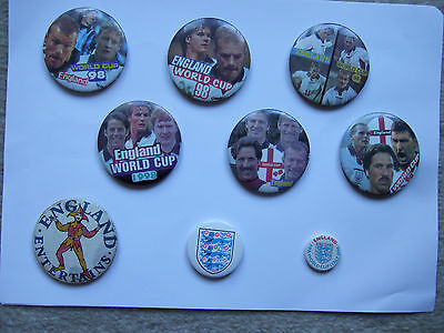badge fifa world cup 1998 england shows beckham shearer adams owen