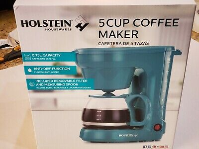 Holstein Housewares HH-0914701E 5-Cup Coffee Maker - Teal (Teal)