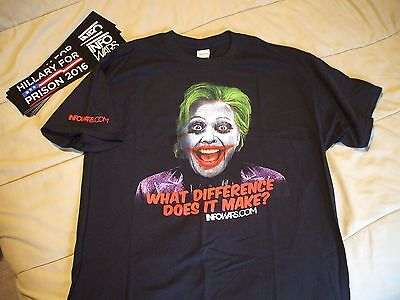 Hillary For Prison T Shirt Official Infowars Com Alex Jones Joker Clinton Newoop