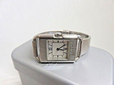 Esprit Brushed Metal Watch Ladies Wristwatch Jewelry w/ Box Extra Links