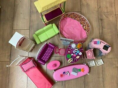 Barbie townhouse furniture and accessories lot GUC (revised)