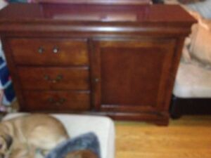 Solid maple twin bed set