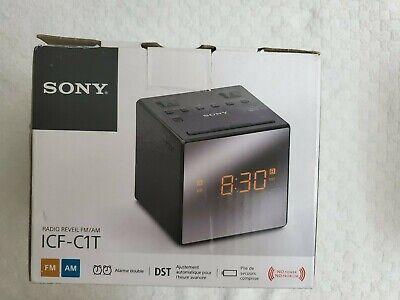 Sony ICF-C1T Desktop Alarm Clock AM FM Radio Black