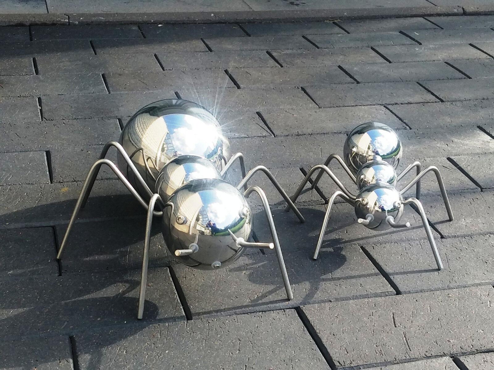 Gartendekoration Ameise Skulptur Edelstahl Deko Gartenfigur Balkondeko Teichdeko