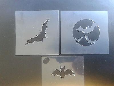 3 x Fledermaus Schminken Schablonen Halloween scarry gotischen (Fledermaus Schminken Halloween)