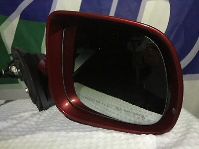 07-15 Audi Q7 4L Complete Genuine OEM Red Right Passenger Mirror with glass!NICE
