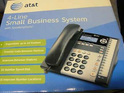 Att 1040 4-line Small Business Teleplone System Expandable Intercom Stations