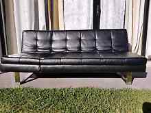 Fold out Leatherette Sofa Freshwater Manly Area Preview
