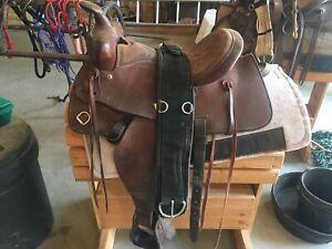 """Western 15"""" Leather Saddle"""