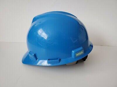 MSA V-Gard Hard Hat, Front Brim, Glaregard, Blue, Adjustable