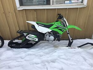 KLX 110  snow ripper