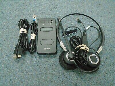 GN Netcom Jabra BIZ 2400 2409-820-205 Binaural Wired Headset W/ 860-09 Link Base for sale  Shipping to India
