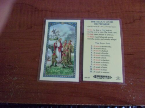 BOY SCOUT THE SCOUT OATH OR PROMISE PRAYER HOLY CARDS FREE SHIPPING