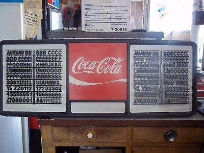 4ft Coca-cola Menu Board Sign W2 Sets Of Coke Black Letters Numbers
