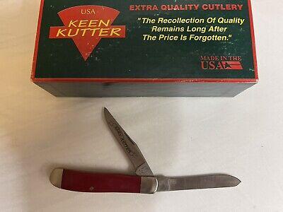 """NEW KEEN KUTTER Bear MGC Red Bone 4"""" Knife 2 BLADES FedEx Next Day Ship"""