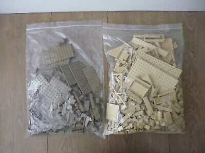LIGHT / DARK TAN SAND LEGO - MIXED BRICKS / BLOCKS / PIECES / BUNDLE - 1 KG
