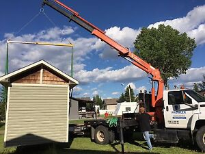 PICKER TRUCK FOR HIRE !!! HOIST SHEDS, HOT TUBS, BOULDERS ECT. Strathcona County Edmonton Area image 1