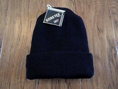 BLACK G.I ISSUE 100% WOOL WATCH CAP WITH GORE-TEX MEMBRANE USA MADE