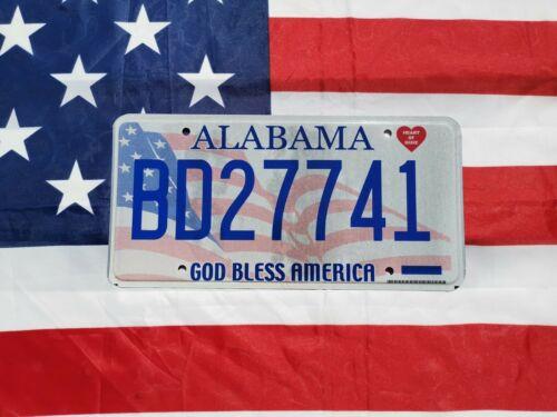 ALABAMA USA Kennzeichen Nummernschild Original ★ Alabama ★ God bless America