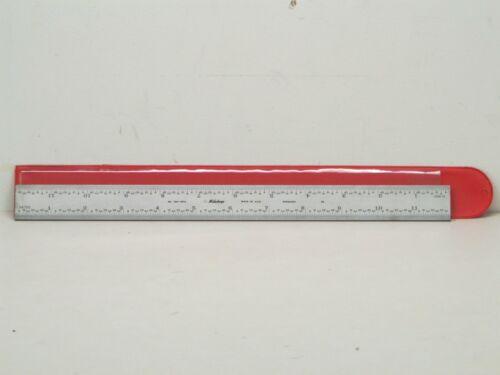 "NEW Mitutoyo 12"" Combination Square Rigid Steel Rule - 4R Graduations - 180-501A"
