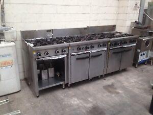 Restaurant Cafe Gas Burners & Ovens commercial