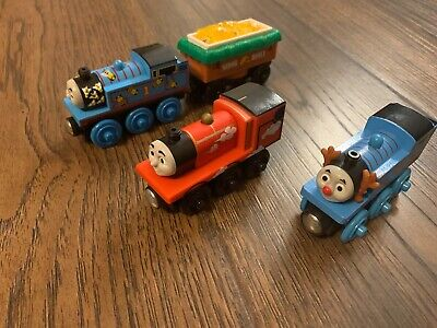 Fisher-Price Thomas & Friends Wooden Railway Trains Lot of 4