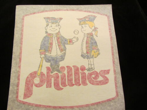 PHILLIES  vintage 70s iron on t shirt transfer full size NOS