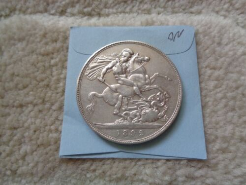 1892 Great Britain Crown large Silver coin Nice condition