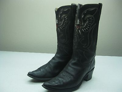 VINTAGE made in usa BLACK EAGLE COUNTRY WESTERN COWBOY ROCKABILLY BOOTS 10.5 D