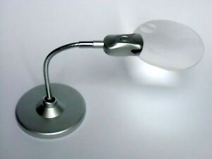 hands free flexible neck desk magnifying glass led light magnifier. Black Bedroom Furniture Sets. Home Design Ideas