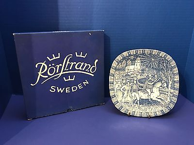 "Julen 1972 Rorstrand Sweden Limited Edition Collector Plate 7 3/4"" Horse Church"
