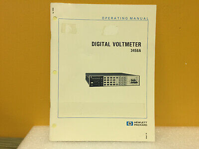 Hp Agilent 03456-90006 3456a Digital Voltmeter Operating Manual