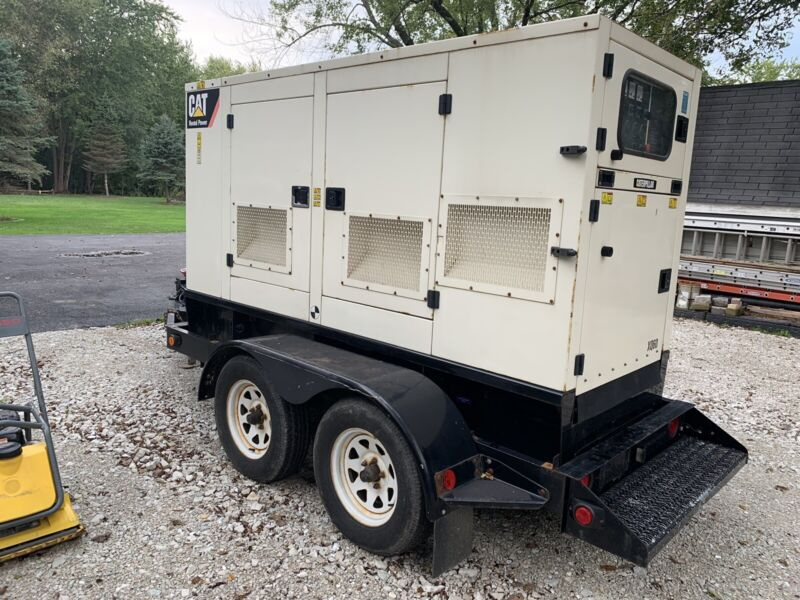 2011 Caterpillar CAT XQ60 Portable Generator Set 60 KW 3 phase 208-480v towable