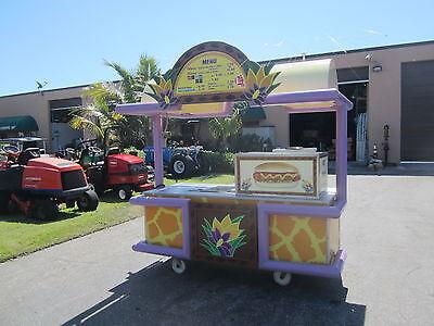 Vending Food Concesion Hot Dog Cart Outdoor Kiosk Full Power Sink Storage