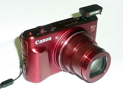 Canon Powershot SX720 HS 20.3mp 40X Optical Zoom Red - WORKING but READ