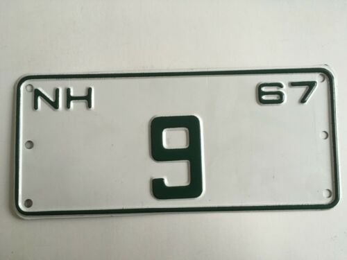 1967 New Hampshire License Plate Contract Carrier Low Number #9 One Single Digit