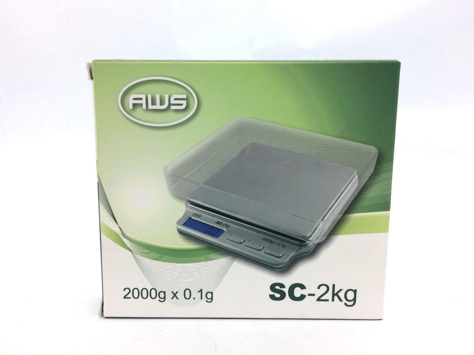 AWS SC-2kg High Capacity Precision Pocket Scale