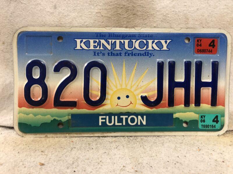 2004 Kentucky License Plate (RARE FULTON COUNTY)