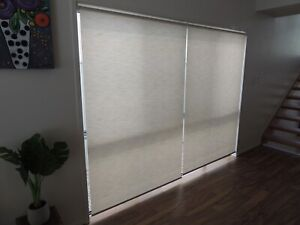 Roller blinds 1.4mtrs - as new, excellent condition