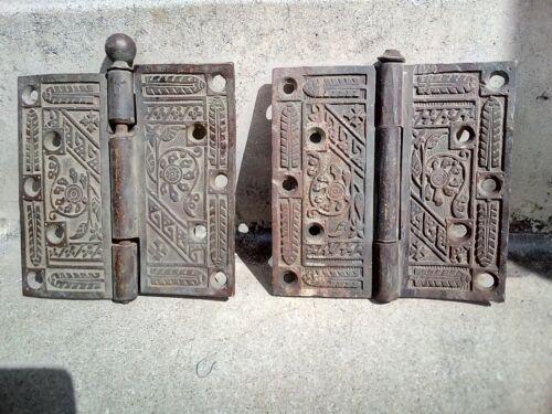 vintage bronze door hinges   parts