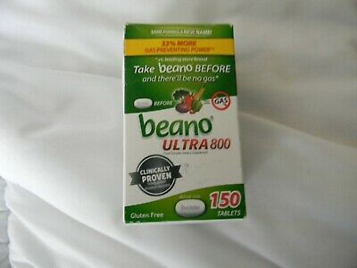 Beano 150 Tablets ULTRA 800 Food Enzyme Dietary Supplement Anti Flatulence