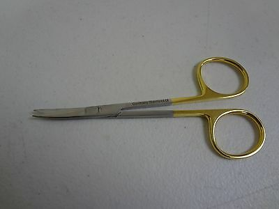 T.c Micro Iris Scissors 4.5 Curved German Stainless Steel Ce Surgical