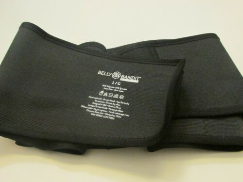 Belly Bandit Basics Postpartum Belly Wrap Black Size LARGE