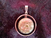 Bella Ciondolo__835 Argento__con Verde Pietra Semipreziosa __2,5cm -  - ebay.it
