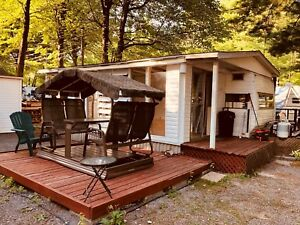 Roulotte camping lac des pins