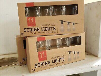 ********Lot Of 8 strings*******Edison Bulb style String Lights 12 ft/ 11 bulbs