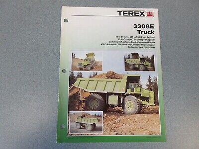 Terex 3308e Dump Truck Literature