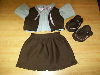 COMPLETE COWGIRL SET SHIRT SKIRT TIE VEST BOOTS for 16