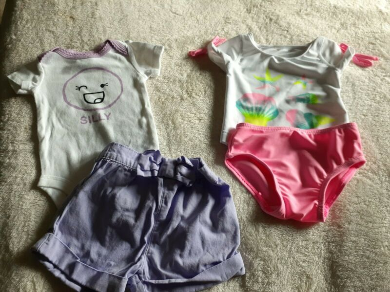 Baby Girl 0/3 Month Lot Swimsuit
